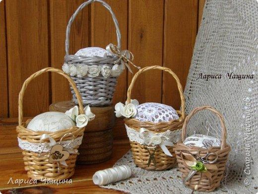 Маленькие корзинки - игольницы. фото 2