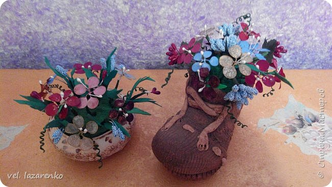 Цветы сделаны из лака для ногтей. фото 1
