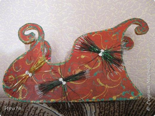 Саночки из потолочной плитки по МК Татьяны Чимбирь. фото 2