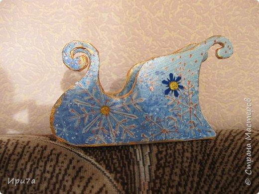 Саночки из потолочной плитки по МК Татьяны Чимбирь. фото 3