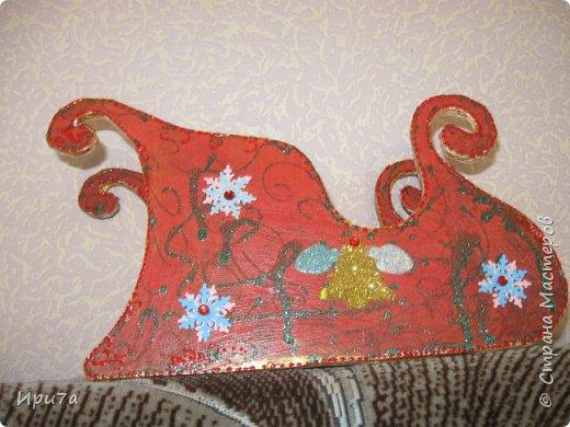 Саночки из потолочной плитки по МК Татьяны Чимбирь. фото 10