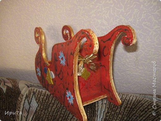 Саночки из потолочной плитки по МК Татьяны Чимбирь. фото 11