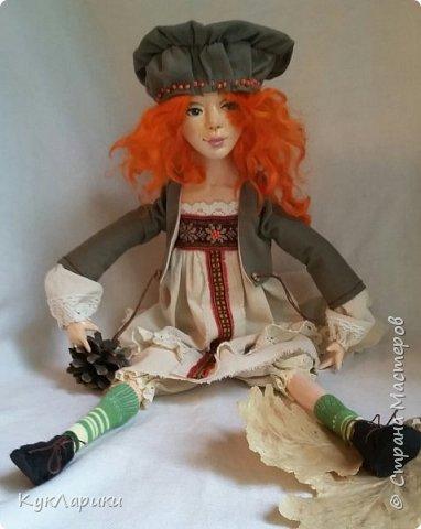 Всем Привет!Я к вам с новой куколкой!Очень славная девочка получилась! фото 2