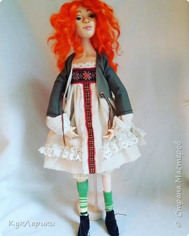 Всем Привет!Я к вам с новой куколкой!Очень славная девочка получилась! фото 4