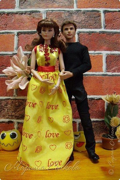 Готовились мы тут с куклами к осеннему балу)) Девчонки все в паетках!) фото 22