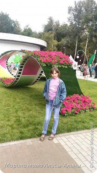 В начале сентября мы опять побывали на выставке Воронеж город сад!В этом году она была 4 дня!Очень понравилось!Мы два дня там гуляли! Самое любимое детьми-это прыгать по сену! фото 6