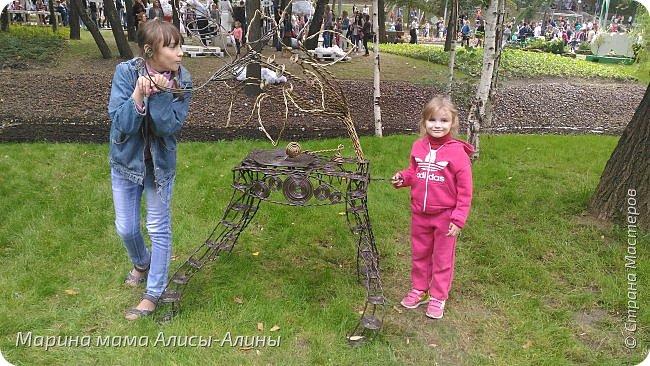 В начале сентября мы опять побывали на выставке Воронеж город сад!В этом году она была 4 дня!Очень понравилось!Мы два дня там гуляли! Самое любимое детьми-это прыгать по сену! фото 39