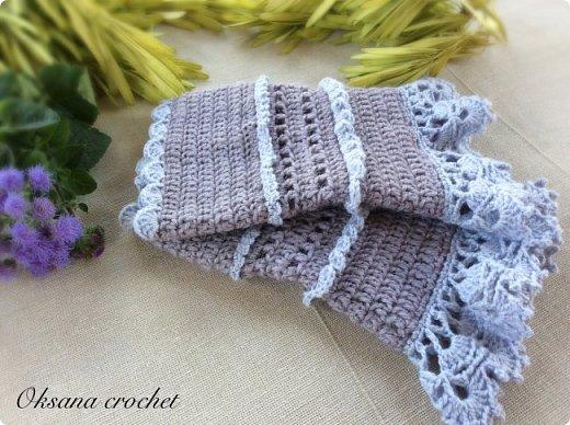 """Теплые манжеты """"Lavender"""". Теплые вязаные манжеты из шерсти альпака. Кружево из мягкого хлопка. Получились длиной около 15 см. На узкое или среднее запястье. Отличная альтернатива перчаткам в прохладное время года. Думаю, что мне в них будет комфортно )))) фото 1"""