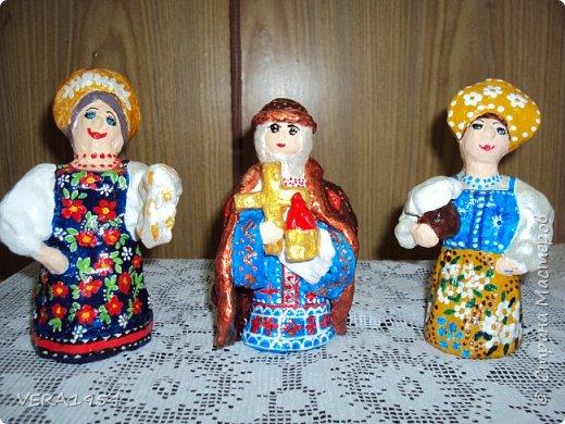 Псковская кукла: Семеновна, княгиня Ольга, девушка с крынкой. Поделки детей 7-9 лет. Игрушка интересная, характерная. Но роспись куклы для детей  пока сложна.