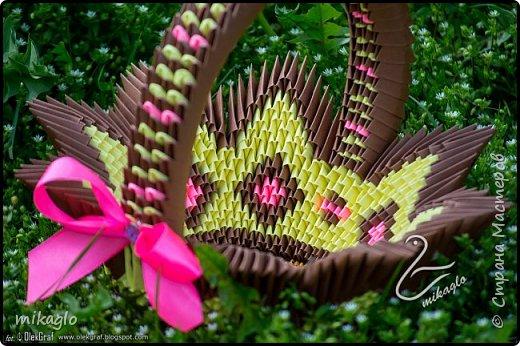 3d origami basket фото 2