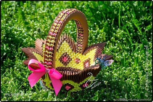 3d origami basket фото 1