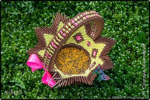 3d origami basket фото 3