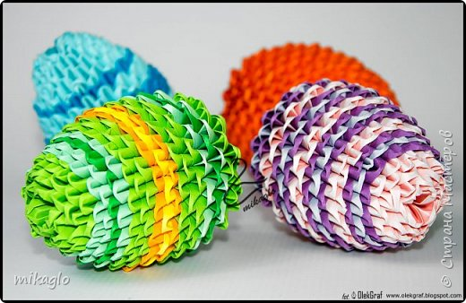 3d origami easter eggs фото 3