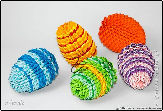 3d origami easter eggs фото 1
