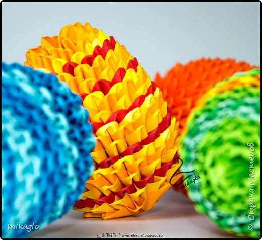 3d origami easter eggs фото 2