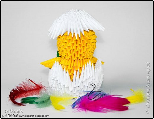 3d origami chicken фото 2