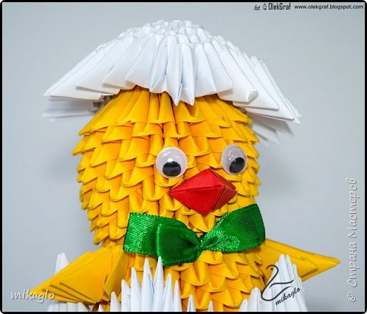 3d origami chicken фото 3