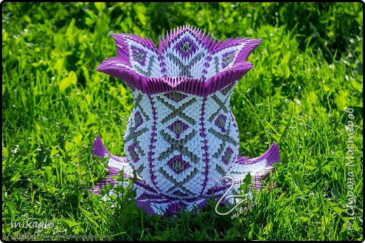 3d origami vase фото 1