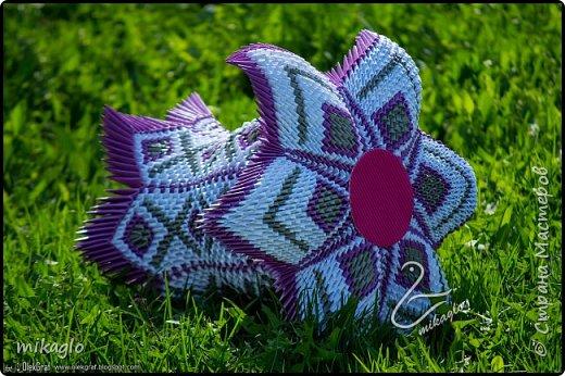3d origami vase фото 3
