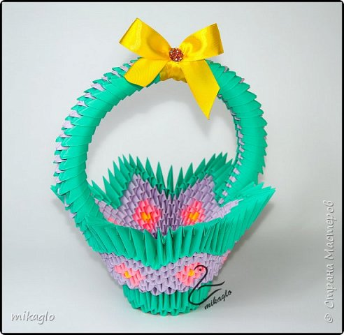 3d origami easter baskets фото 1