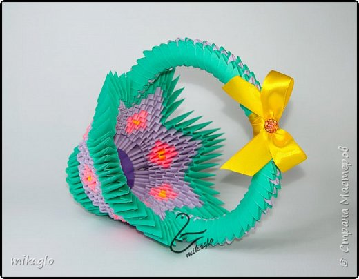 3d origami easter baskets фото 3