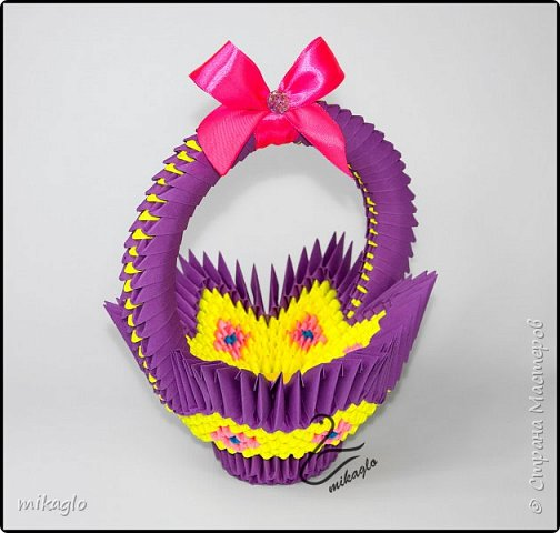 3d origami easter baskets фото 2