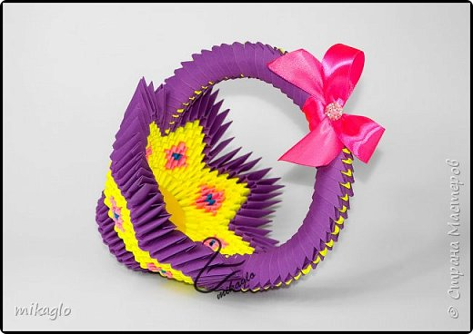 3d origami easter baskets фото 4