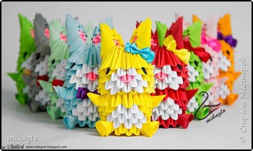 3d origami bunnys фото 1