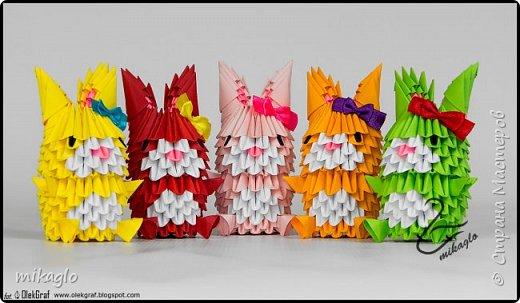 3d origami bunnys фото 2