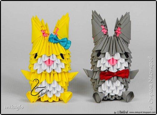 3d origami bunnys фото 4
