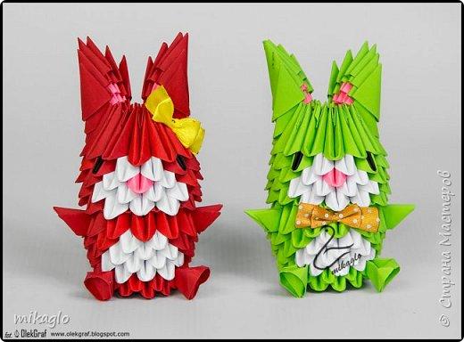 3d origami bunnys фото 3