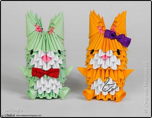 3d origami bunnys фото 5