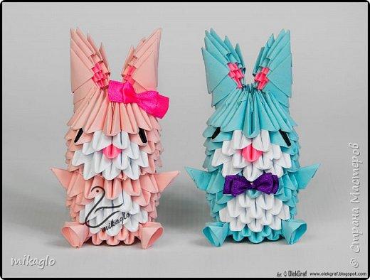 3d origami bunnys фото 6