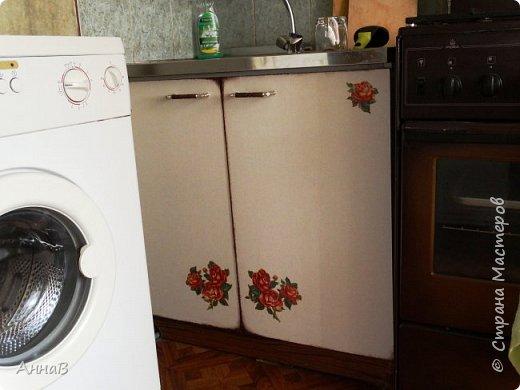 Продолжаю рассказ о попытке сделать уютным дом с минимальными затратами.  Покупка нового кухонного гарнитура не входит в число запланированных покупок на ближайшее время, поэтому пришлось .... состарить имеющийся   фото 5