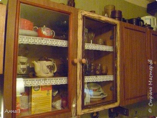 Продолжаю рассказ о попытке сделать уютным дом с минимальными затратами.  Покупка нового кухонного гарнитура не входит в число запланированных покупок на ближайшее время, поэтому пришлось .... состарить имеющийся   фото 2
