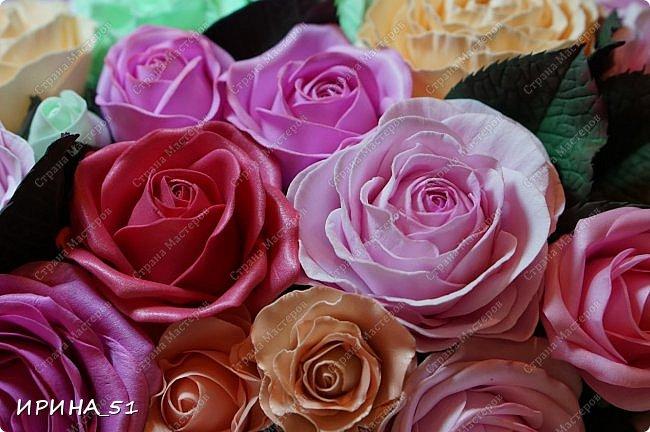 Здравствуйте! Сегодня я с композицией из фоамирана. Использовано 3 вида фома: иранский, корейский и китайский зефирный.  Приглашаю к просмотру.  фото 9