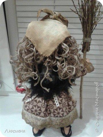 Бабка ежка. Кукла ручной работы.высота 40 см .Выполнена в смешанной технике(пластика плюс скульптурный текстиль) фото 10
