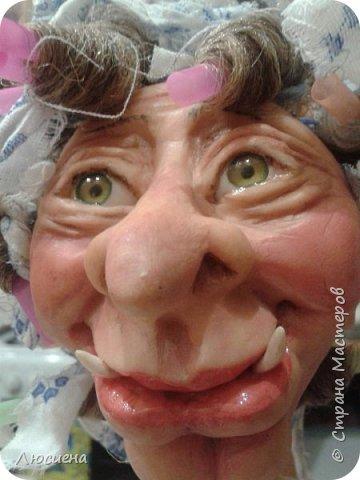 Бабка ежка. Кукла ручной работы.высота 40 см .Выполнена в смешанной технике(пластика плюс скульптурный текстиль) фото 14