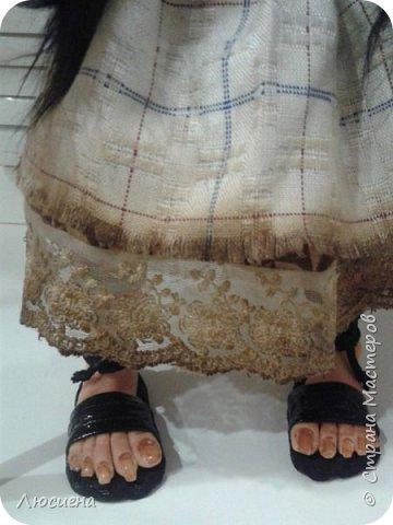 Бабка ежка. Кукла ручной работы.высота 40 см .Выполнена в смешанной технике(пластика плюс скульптурный текстиль) фото 3