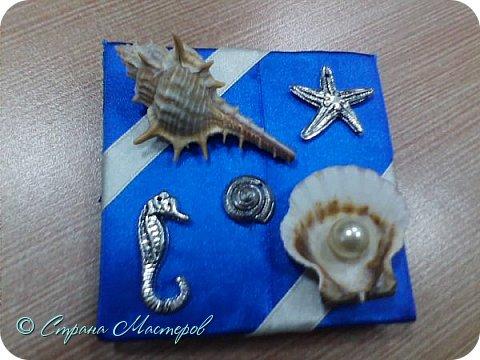 Фоторамка,декорированная искусственными и настоящими ракушками с моря. фото 2
