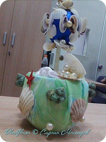 Фоторамка,декорированная искусственными и настоящими ракушками с моря. фото 3