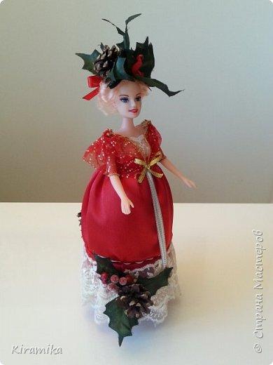 Кукла-шкатулка «Рождественские празднества » фото 3