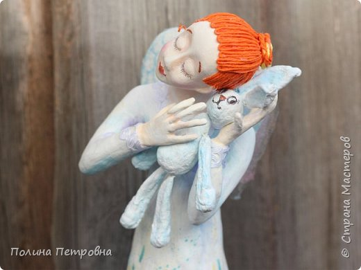 Родился новый нежный ангелочек.Ангел вдохновения,помогает мастерам.Идейку на ушко нашепчет.Искорку,душу в глаза куколке вдохнёт...Чудо рядом для тех,кто верит... фото 4