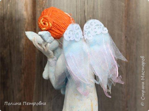 Родился новый нежный ангелочек.Ангел вдохновения,помогает мастерам.Идейку на ушко нашепчет.Искорку,душу в глаза куколке вдохнёт...Чудо рядом для тех,кто верит... фото 5