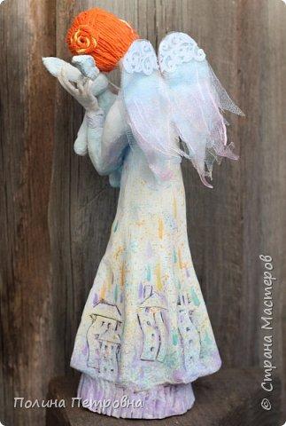 Родился новый нежный ангелочек.Ангел вдохновения,помогает мастерам.Идейку на ушко нашепчет.Искорку,душу в глаза куколке вдохнёт...Чудо рядом для тех,кто верит... фото 6