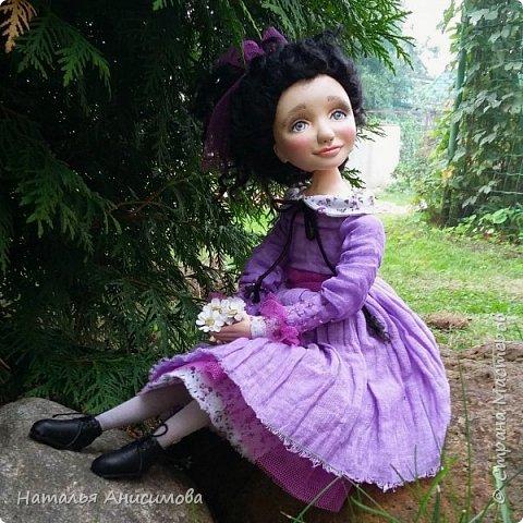 Интерьерная кукла Фиона выполнена в смешанной технике. фото 6