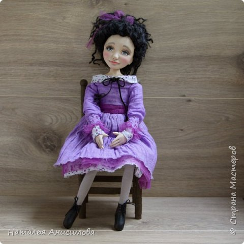 Интерьерная кукла Фиона выполнена в смешанной технике. фото 2