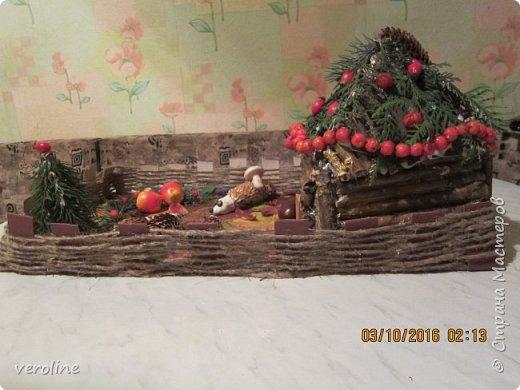 """Всем доброго здоровья!! В садике попросили принести поделку для выставки. Но они не знали, что всего лишь """"поделкой"""" мы не ограничимся!))))) И вот, наша, с Василечком, композиция из природных материалов """"Семья Ежовых"""". фото 8"""