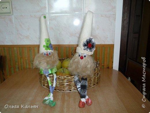 Вот такие братцы гномы у меня получились в подарок двум сестричкам. фото 1