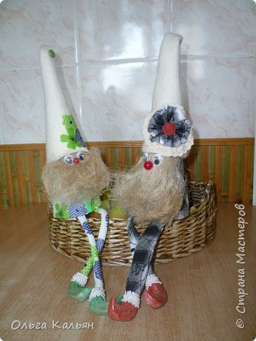 Вот такие братцы гномы у меня получились в подарок двум сестричкам. фото 2